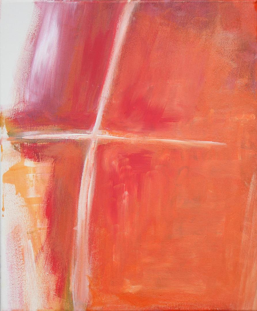 Merle Neumann malt – Bildmotiv: Kreuz