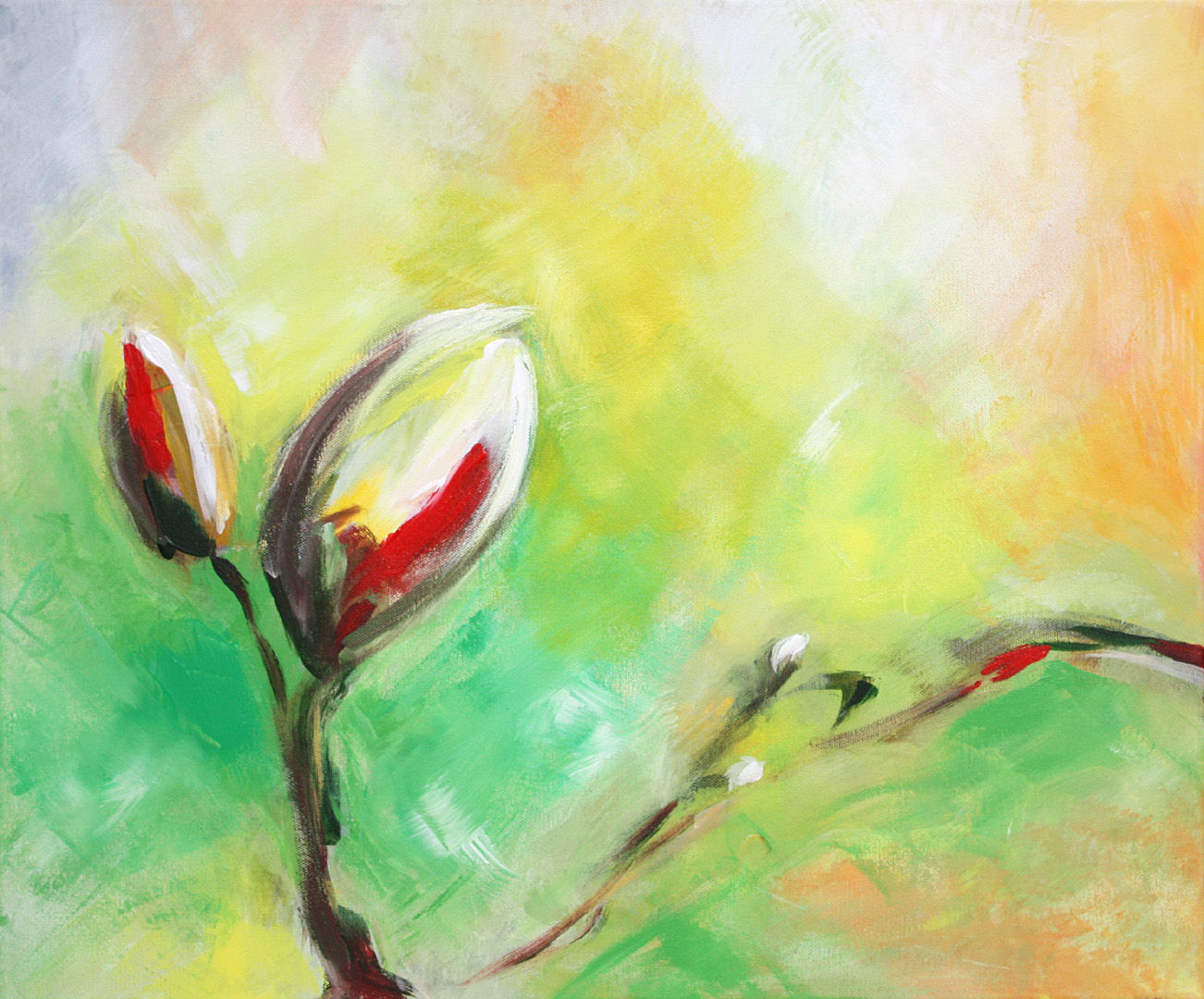 Merle Neumann malt – Bildmotiv: Neues Leben