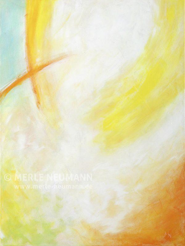 Merle Neumann malt – Bildmotiv: Sonne und Schild – Denn Gott der HERR ist Sonne und Schild; der HERR gibt Gnade und Ehre: er wird kein Gutes mangeln lassen den Frommen. Psalm 84,11