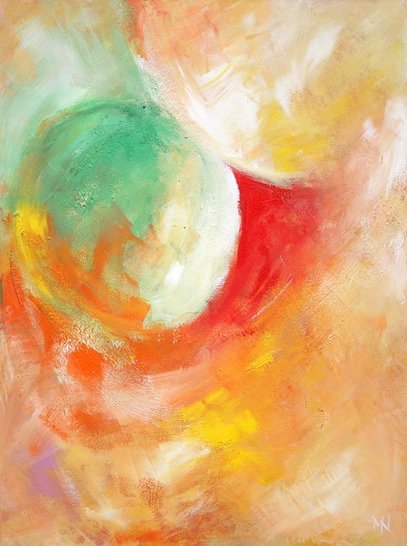 Merle Neumann malt – Bildmotiv: Trost – Ich will euch trösten, wie einen seine Mutter tröstet. Jahreslosung 2016 Jesaja 66,13