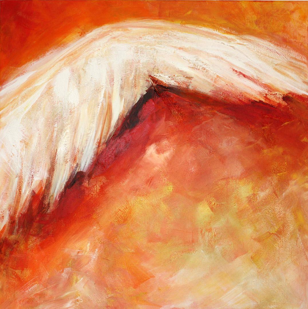 Merle Neumann malt – Bildmotiv: Zuflucht – Unter dem Schatten deiner Flügel habe ich Zuflucht. Psalm 57,2