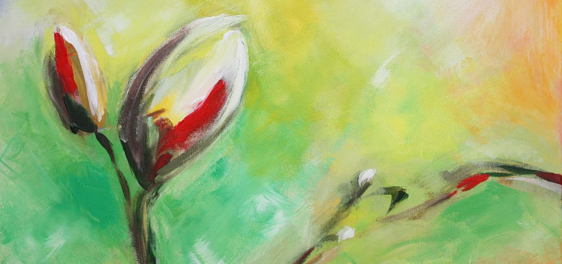Merle Neumann malt - Bildmotiv Neues Leben