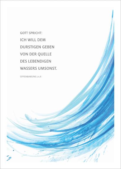 Merle Neumann malt die Jahreslosung 2018 – Gott spricht: Ich will dem Durstigen geben von der Quelle des lebendigen Wassers umsonst. Offenbarung 21,6