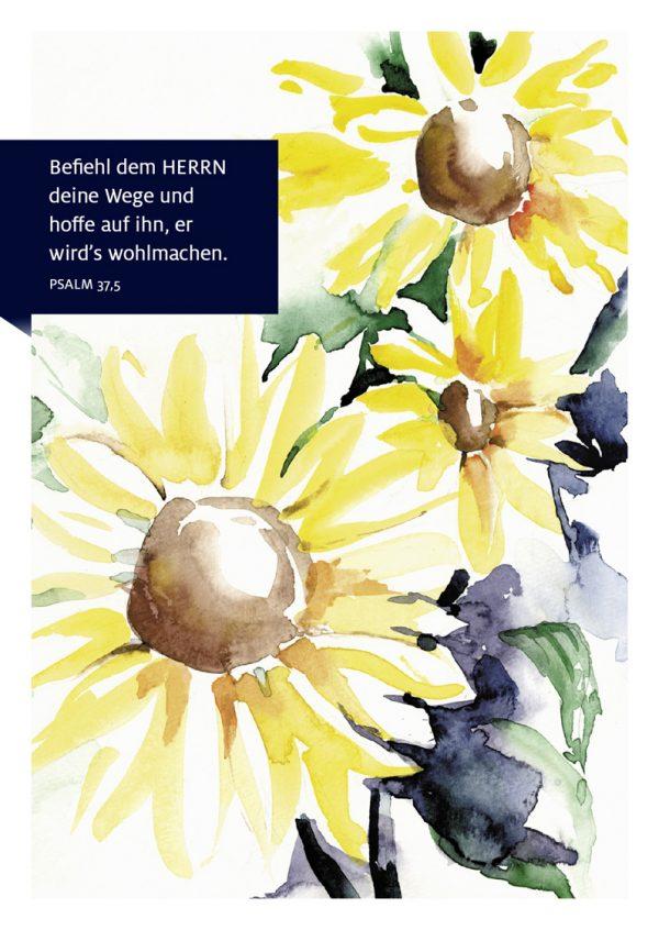 Merle Neumann malt – Bildmotiv: Befiehl dem HERRN deine Wege und hoffe auf ihn, er wird's wohlmachen. Psalm 37,5 Merle Neumann